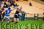 Kieran Donaghy Austin Stacks breaks away from Ryan Keane Laune Rangers during their Senior football relegation play off in Killarney on Sunday