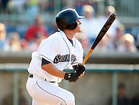 June 24, 2009:  Outfielder Bo Greenwell of the Mahoning Valley Scrappers during a game at Eastwood Field in Niles, OH.  The Scrappers are the NY-Penn League Short-Season Single-A affiliate of the Cleveland Indians.  Photo by:  Mike Janes/Four Seam Images