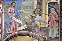 BG41205.JPG BULGARIA, RILA MONASTERY, CHURCH OF NATIVITY, frescoes