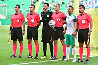 PALMASECA-COLOMBIA,09 -09-2018.Edilson Ariza referee central del juego entre Deportivo Cali y Equidad durante partido por la fecha 9 de la Liga Águila II 2018 jugado en el estadio Deportivo Cali de la ciudad de Palmira./Central Referee Edilson Ariza  during match Deportivo Cali  and  Equidad  match for the date 9 of the Aguila League II 2018 played at Alfonso Lopez  stadium in Palmaseca city. Photo: VizzorImage/ Nelson Rios / Contribuidor