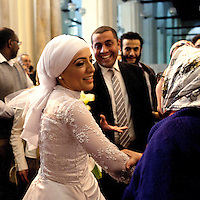 EGYPT / Cairo / 23.3.2012 / Wedding in Al-Hakim Mosque in Cairo. Egypt, 2012. (Friday 23rd March)