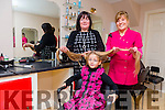 Wonderful 7 year old Ella Diggins from Causeway who donated 14 and 1/2 inches of her hair to the Rapunzel Foundation. Ella had her hair cut at Breda's Hair Salon in Ballyheigue by Breda Foran on Friday. with her Mom, Evonne,