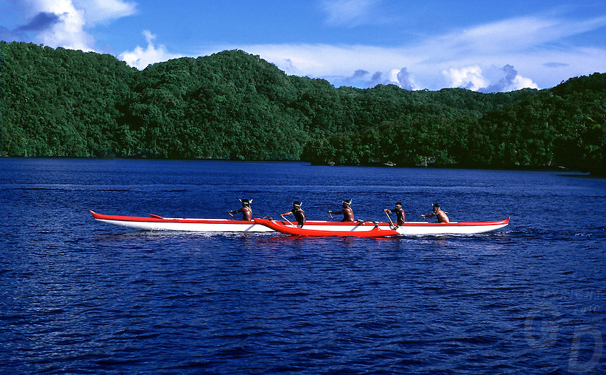 Traditional Palau Canoe,