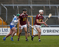 2nd February 2020; TEG Cusack Park, Mullingar, Westmeath, Ireland; Allianz Division 1 Hurling, Westmeath versus Waterford; Adam Ennis brings the ball out for Westmeath