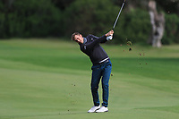 Ugo Coussaud (FRA) on the 7th fairway during Round 2 of the Challenge Tour Grand Final 2019 at Club de Golf Alcanada, Port d'Alcúdia, Mallorca, Spain on Friday 8th November 2019.<br /> Picture:  Thos Caffrey / Golffile<br /> <br /> All photo usage must carry mandatory copyright credit (© Golffile | Thos Caffrey)