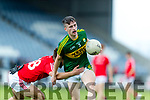 Chris O'Donoghue Kerry in action against Conor Nicholson Louth in the All Ireland Minor Football Quarter Finals at O'Moore Park, Portlaoise on Saturday.
