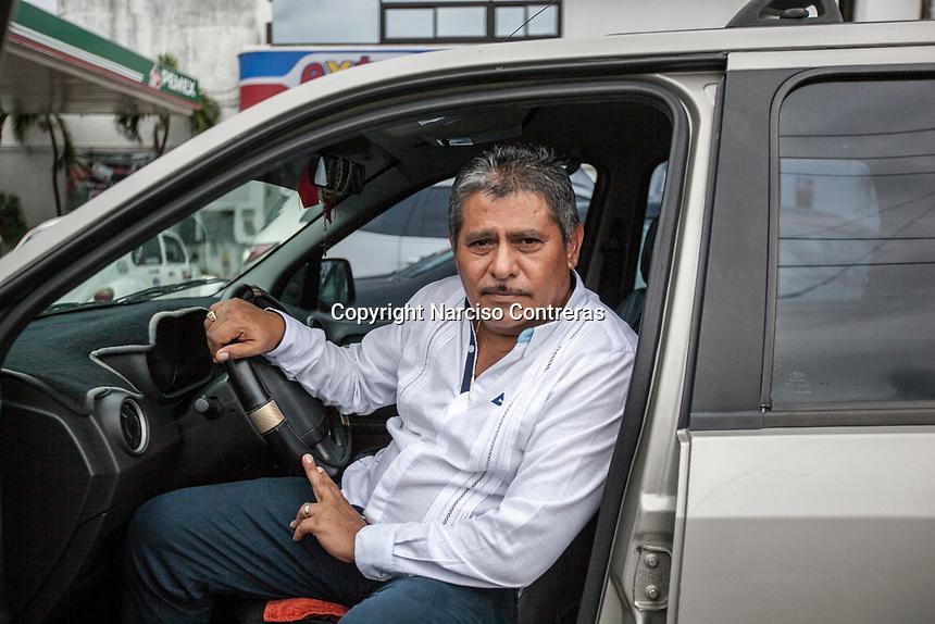 June 15, 2018: A business owner Roberto Jacinto de la Cruz, manager of CANACO (Chamber of National Trade) in Acapulco, Guerrero.