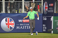 Marcel Siem (GER) on the 1st tee during Round 3 of the Sky Sports British Masters at Walton Heath Golf Club in Tadworth, Surrey, England on Saturday 13th Oct 2018.<br /> Picture:  Thos Caffrey | Golffile<br /> <br /> All photo usage must carry mandatory copyright credit (&copy; Golffile | Thos Caffrey)