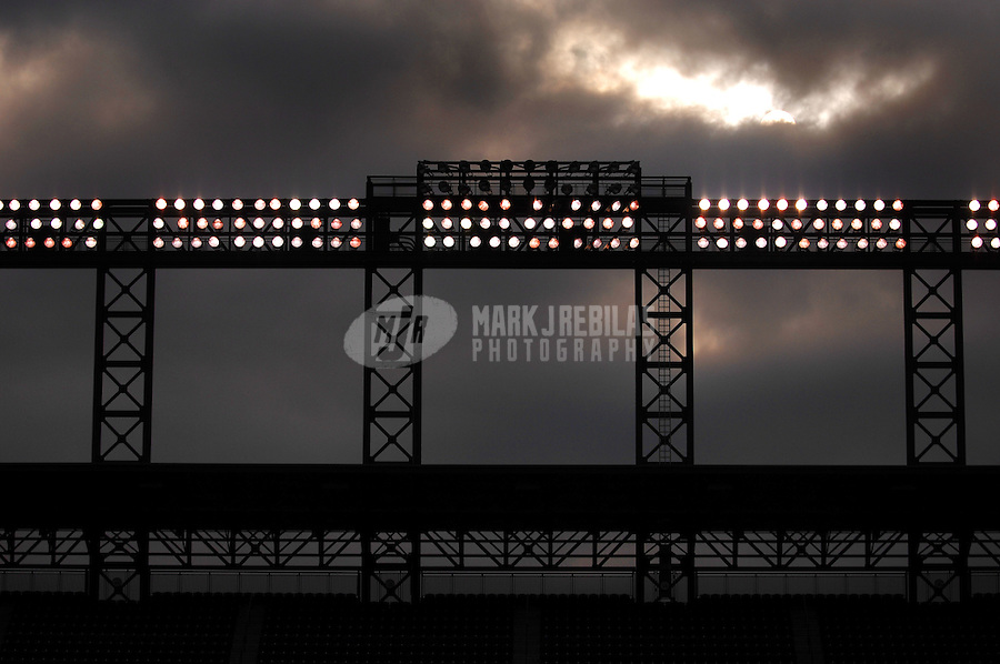 Oct 26, 2007; Denver, CO, USA; Coors Field during the Colorado Rockies practice prior to tomorrows game against the Boston Red Sox in game 3 of the 2007 World Series at Coors Field. Mandatory Credit: Mark J. Rebilas-US PRESSWIRE