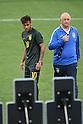 (L to R) <br /> Neymar, <br /> Luiz Felipe Scolari (BRA), <br /> JUNE 11, 2014 - Football /Soccer : <br /> 2014 FIFA World Cup Brazil <br /> Official Training of Brazil <br /> at Arena de Sao Paulo, Sao Paulo, Brazil. <br /> (Photo by YUTAKA/AFLO SPORT)