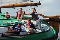 SKUTSJESILEN: ECHTENERBRUG: Tsjûkemar, 16-08-2012, IFKS skûtsjesilen, A-Klasse, skûtsje Grytsje Obes, schipper Romke de Jong, ©foto Martin de Jong