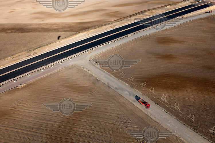 Construction of a highway.