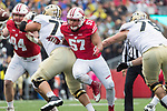 Wisconsin Badgers defensive lineman Alec James (57) rushes the quarterback during an NCAA College Big Ten Conference football game against the Purdue Boilermakers Saturday, October 14, 2017, in Madison, Wis. The Badgers won 17-9. (Photo by David Stluka)