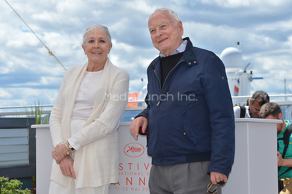 Vanessa Redgrave and Jim Ivory at the Photocall &acute;Howards End` - 69th Cannes Film Festival on May 12, 2016 in Cannes, France.<br /> CAP/LAF<br /> &copy;Lafitte/Capital Pictures /MediaPunch ***NORTH AMERICAN AND SOUTH AMERICAN SALES ONLY***