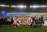 BUENOS AIRES - ARGENTINA - 10-12-2014: Los Jugadores de River Plate de Argentina celebran el titulo de campeones de la Copa Total Suramaricana en el Estadio Antonio Vespucio Liberti- Monumental de Nuñez, de la ciudad de Buenos Aires.  / Players of River Plate of Argentina held the title of champions of the Copa Total Suramaricana at the Stadium  the Antonio Vespucio Liberti- Monumental de Nuñez, Stadium, in Buenos Aires city. Photo:  Photogamma / VizzorImage.