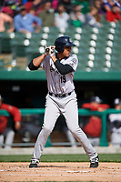 Kane County Cougars third baseman Ramon Hernandez (19) at bat during a game against the South Bend Cubs on May 3, 2017 at Four Winds Field in South Bend, Indiana.  South Bend defeated Kane County 6-2.  (Mike Janes/Four Seam Images)
