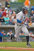 Wilmington Blue Rocks infielder Ramon Torres (22) during a game against the Myrtle Beach Pelicans at Ticketreturn.com Field at Pelicans Ballpark on April 10, 2015 in Myrtle Beach, South Carolina. Wilmington  defeated Myrtle Beach 8-3. (Robert Gurganus/Four Seam Images)