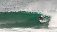 MARGARET RIVER, Western Australia/AUS (Saturday, April 14, 2018) Joel Parkinson (AUS) - Stop No. 3 on the World Surf League (WSL) Championship Tour, the Margaret River Pro, continued today with the remaining heats of men&rsquo;s Round 1 and women&rsquo;s Round 1 in heavy four-to-six foot (1.2 - 1.8 metre) waves at North Point.<br /> <br /> North Point, the backup site known for its intense, barreling waves, hosted the world&rsquo;s best female CT surfers for the first time in history today. Despite the slower and more challenging conditions, the women dominated the day, including the highest single-wave scores of the event from Tatiana Weston-Webb (HAW) and Carissa Moore (HAW).  <br /> <br /> 2012 WSL Champion Joel Parkinson (AUS) beat Michel Bourez (PYF) and Patrick Gudauskas (USA) to close out the men&rsquo;s competition in Heat 12. Parkinson&rsquo;s heat total of a 10.34 was the highest of the men's morning as conditions slowed over the low tide, showing experience pays at the elite level.Photo: joliphotos.com