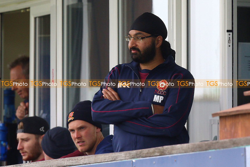 Monty Panesar of Northants looks on from the dressing room balcony during Essex CCC vs Northamptonshire CCC, Specsavers County Championship Division 2 Cricket at the Essex County Ground on 25th April 2016