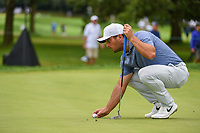 Francesco Molinari (ITA) lines up his putt on 11 during Rd4 of the 2019 BMW Championship, Medinah Golf Club, Chicago, Illinois, USA. 8/18/2019.<br /> Picture Ken Murray / Golffile.ie<br /> <br /> All photo usage must carry mandatory copyright credit (© Golffile | Ken Murray)