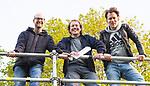 BLOEMENDAAL  - Hockey -  finale KNHB Gold Cup dames, Bloemendaal-HDM . Bloemendaal wint na shoot outs. Hockey.nl, Marco van Nugteren,  Reemt Borcherts en Jeroen Mansier.  COPYRIGHT KOEN SUYK
