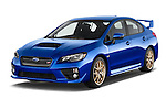 2017 Subaru WRX STI - 4 Door Sedan Angular Front stock photos of front three quarter view