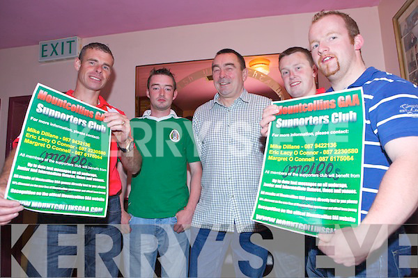 Launch night last Saturday in Mountcollins where the supporters club was opened in Naughtons Bar, Mountcollins, pictured l-r :Eric Lacy O'Connor (chairperson), Sean Lenihan, Patrick Lenihan, Michael Lenihan and Michael Dillane(secretary) .