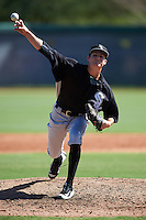 Chicago White Sox pitcher Jimmy Lambert (26) during an Instructional League game against the San Francisco Giants on October 10, 2016 at the Camelback Ranch Complex in Glendale, Arizona.  (Mike Janes/Four Seam Images)