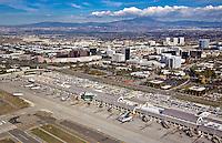Aerial Photograph of John Wayne Airport and Central Costa Mesa