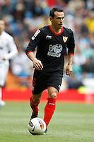 29.04.2012 SPAIN -  La Liga matchday 36th  match played between Real Madrid CF vs Sevilla Futbol Club (3-0) at Santiago Bernabeu stadium. The picture show Piotr Trochowski (Polish Midfielder of Sevilla F.C.)