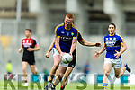 Johnny Buckley Kerry in action against Chris Barrett Mayo in the All Ireland Semi Final Replay in Croke Park on Saturday.