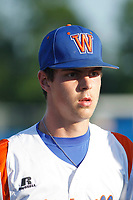Whiteville High School Wolfpack pitcher MacKenzie Gore (1)  before a game against the Rosewood High School Eagles at Legion Stadium  on May 26, 2017 in Whiteville, North Carolina. Whiteville defeated Rosewood 5-0 to win the eastern 1-A baseball championship and advance to the state finals. (Robert Gurganus/Four Seam Images)