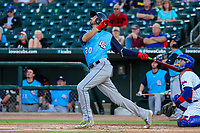 Colorado Springs Sky Sox first baseman Chris Colabello (20) during game two of a Pacific Coast League doubleheader against the Iowa Cubs on August 17, 2017 at Principal Park in Des Moines, Iowa. Iowa defeated Colorado Springs 6-0. (Brad Krause/Krause Sports Photography)