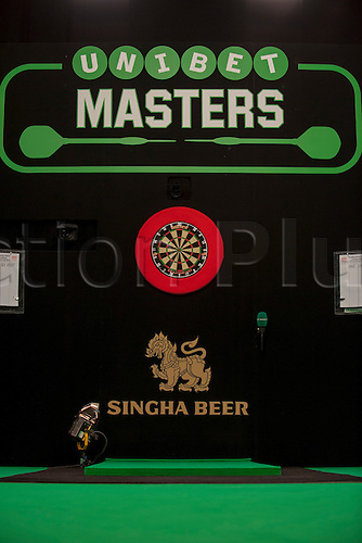 31.01.2016. ArenaMK, Milton Keynes, England. Unibet Masters Darts Championship.  The Unibet Masters Oche.