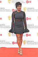 Clara Amfo at the British Academy (BAFTA) Television Awards 2019, Royal Festival Hall, Southbank Centre, Belvedere Road, London, England, UK, on Sunday 12th May 2019.<br /> CAP/CAN<br /> &copy;CAN/Capital Pictures