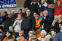 Blackpool fans take their seats before kick off<br /> <br /> Photographer Alex Dodd/CameraSport<br /> <br /> Checkatrade Trophy Round 3 Blackpool v Wycombe Wanderers - Tuesday 10th January 2017 - Bloomfield Road - Blackpool<br />  <br /> World Copyright &copy; 2017 CameraSport. All rights reserved. 43 Linden Ave. Countesthorpe. Leicester. England. LE8 5PG - Tel: +44 (0) 116 277 4147 - admin@camerasport.com - www.camerasport.com