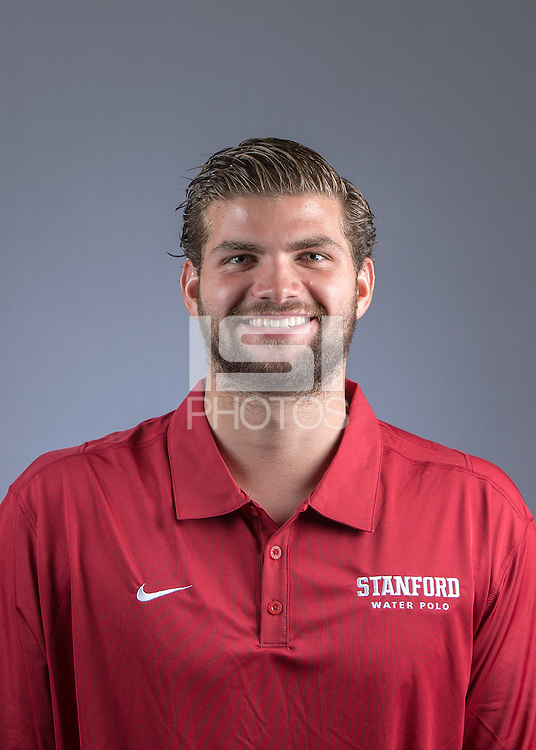 STANFORD, CA - September 7, 2016:  Stanford Men's Water Polo Portraits and Team photos.