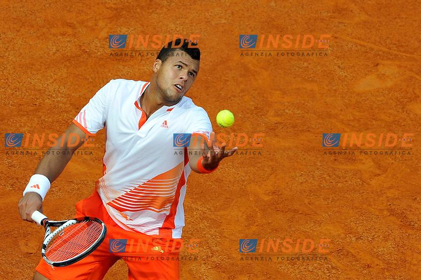 Jo-Wilfried Tsonga of France.Roma 18/05/2012 Foro Italico.Tennis Internazionali d'Italia.Foto Insidefoto Antonietta Baldassarre