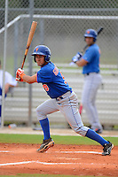 GCL Mets shortstop Luis Guillorme (9) during the first game of a double header against the GCL Cardinals on July 17, 2013 at Roger Dean Complex in Jupiter, Florida.  GCL Cardinals defeated the GCL Mets 6-5 in twelve innings.  (Mike Janes/Four Seam Images)