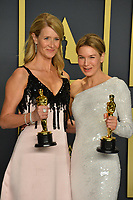 LOS ANGELES, USA. February 09, 2020: Laura Dern & Renee Zellweger at the 92nd Academy Awards at the Dolby Theatre.<br /> Picture: Paul Smith/Featureflash
