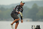 August 10, 2019: Zach Birge on day two of the Forrest Wood Cup on Lake Hamilton in Hot Springs, Arkansas. ©Justin Manning/Eclipse Sportswire/CSM