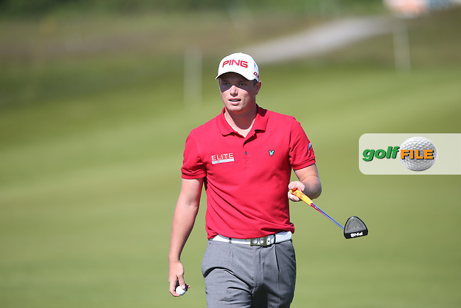 Callum Shinkwin (ENG) bemused during Round Two of the 2015 Nordea Masters at the PGA Sweden National, Bara, Malmo, Sweden. 05/06/2015. Picture David Lloyd | www.golffile.ie