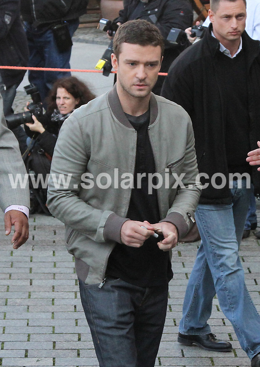 **ALL ROUND PICTURES FROM SOLARPIX.COM**                                             **UK AND SPAIN SYNDICATION RIGHTS ONLY**                                                                                  Caption: Justin Timberlake and Amanda Seyfried at the Photo Call for In Time in Berlin                                                                              This pic: Justin Timberlake                                                                                              JOB REF:14142        CPR/MK/AM/       DATE: 02.11.2011                                                           **MUST CREDIT SOLARPIX.COM OR DOUBLE FEE WILL BE CHARGED**                                                                      **MUST AGREE FEE BEFORE ONLINE USAGE**                               **CALL US ON: +34 952 811 768 or LOW RATE FROM UK 0844 617 7637**