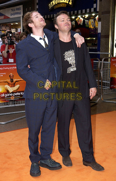 """PAUL KAYE & PETE TONG.UK Premiere of """"It's All Gone Pete Tong"""",.Empire Leicester Square, London, May 26th 2005..full length funny .Ref: DH.www.capitalpictures.com.sales@capitalpictures.com.©David Hitchens/Capital Pictures."""