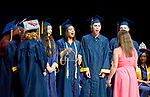 """WATERBURY, CT-062117JS11- Graduating members of the Kennedy High School choral group sing """"Best Day of My Life"""" during graduation ceremonies Wednesday at Kennedy High School in Waterbury.  Jim Shannon Republican-American"""