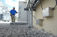 FPL preparing for flood damage before Hurricane Irma at the Collins Substation in Fort Lauderdale, Fla. in September 7, 2017.