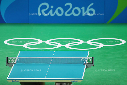 General View,<br /> AUGUST 9, 2016 - Table Tennis : <br /> Women's Singles Quarter-final<br /> at Riocentro - Pavilion 3 <br /> during the Rio 2016 Olympic Games in Rio de Janeiro, Brazil. <br /> (Photo by Koji Aoki/AFLO SPORT)