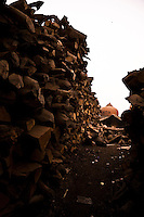 Over 500 bodies are burnt every day on the ghats, requiring many tons of wood. (Photo by Matt Considine - Images of Asia Collection)