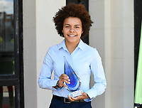 20190512 – OOSTENDE , BELGIUM : Kassandra Missipo pictured as winner of the 5th edition of the Sparkle award ceremony , Sunday 12 May 2019 , in Oostende . The Sparkle  is an award for the best female soccer player during the season 2018-2019 comparable to the Golden Shoe or Boot / Gouden Schoen / Soulier D'or for Men in Belgium . PHOTO SPORTPIX.BE | DAVID CATRY