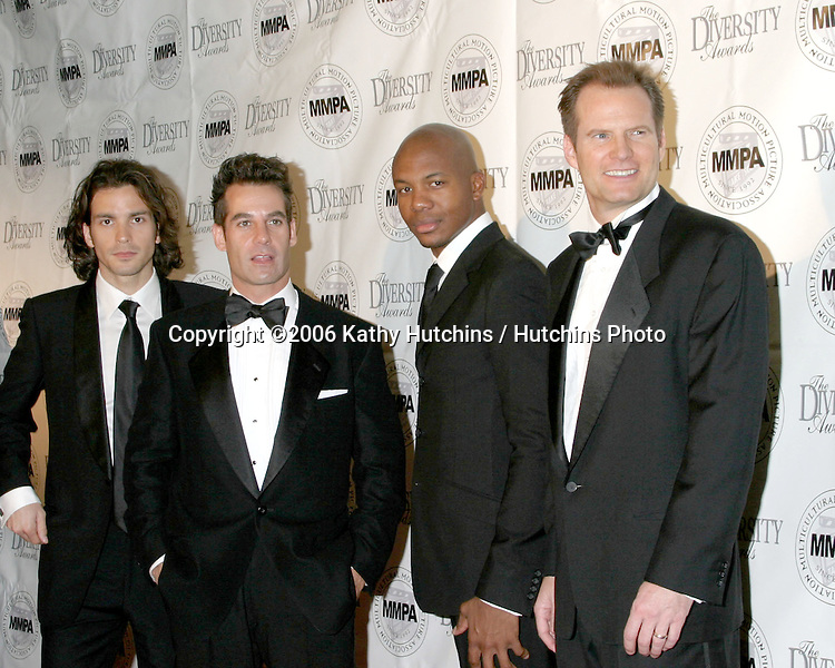 Heros Men.Santiago Cabrera, Adrian Pasdar, ? , and Jack Coleman.Diversity Awards 2006.Century Plaza Hotel.Century City, CA.November 19, 2006.©2006 Kathy Hutchins / Hutchins Photo....